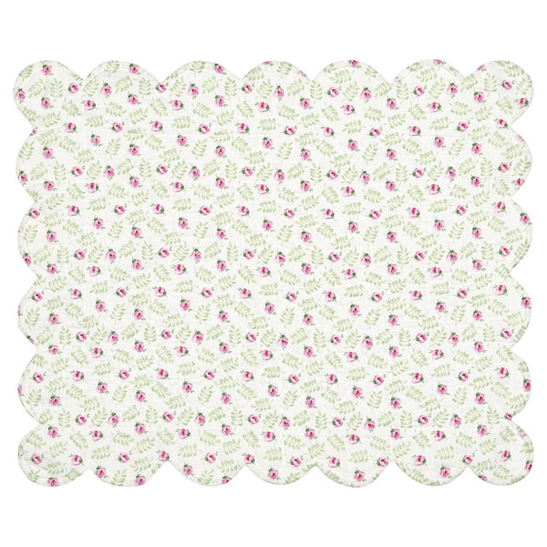 Tischset quilted Placemat Lily petit white