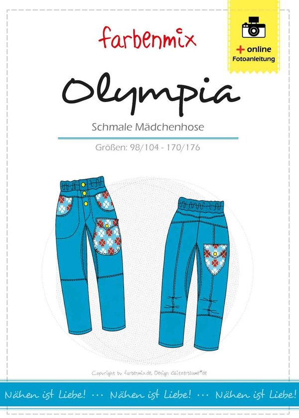 Olympia - schmale Mädchen-Hose