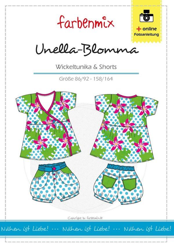 Unella Blooma - Wickeltunika & Shorts