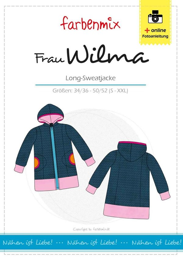 Frau WILMA - Long-Sweatjacke